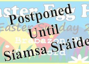 Easter Egg Hunt Postponed