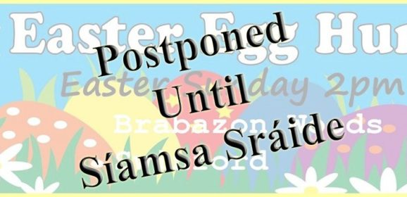 Easter Egg Hunt Postponed