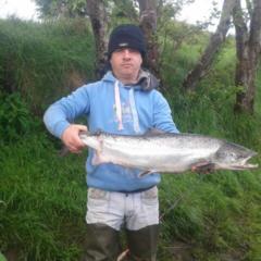 Happy Swinford man catches Salmon