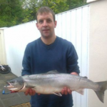 Declan Scanlon salmon fishing on the river moy in Swinford
