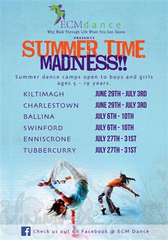 b1d224974a ECM Dance Summer Camp In Swinford - Swinford.ie