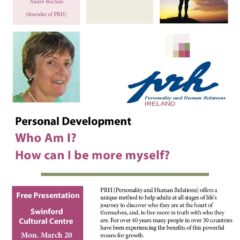 Personal Development Presentation – Swinford Cultural Centre 20th March