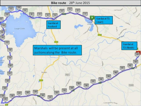 The Humbert Challenge Triathlon also has a 40k cycle through scenic Pontoon. Visit Swinford.ie for more details.