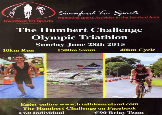 On Sunday 28th June 2015, The Humbert Challenge Triathlon will once again take place in Swinford, hosted by local triathlon club Swinford Tri Sports. Visit Swinford.ie for more details.