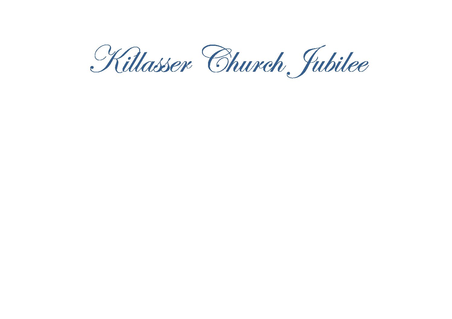 Killasser Church Celebrates 150 Years
