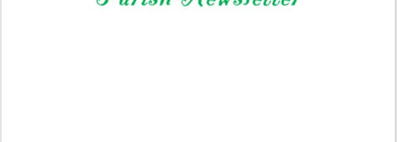 Swinford Parish Newsletter October 20th 2019