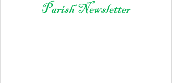 Swinford Parish Newsletter September 15th 2019