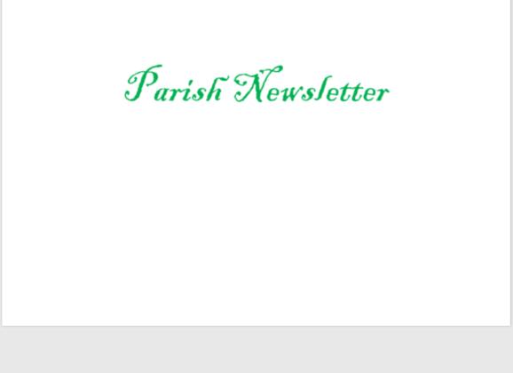 Swinford Parish Newsletter 20th September 2020