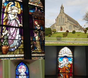 Stainglass in Swinford Church