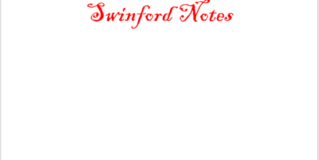 Swinford Notes 8th January 2020
