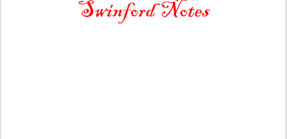 Swinford Notes July 29th 2020