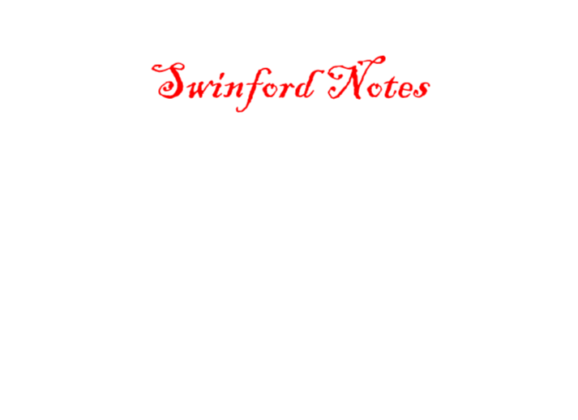 Swinford Notes February 19th 2020