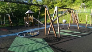 Swinford Playground is very popular with families