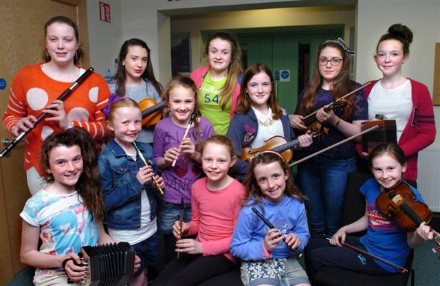 Some of our wonderful young musicians at the launch of Mayo Fleadh Cheoil in the Cultural Centre. Visit Swinford.ie for more info.